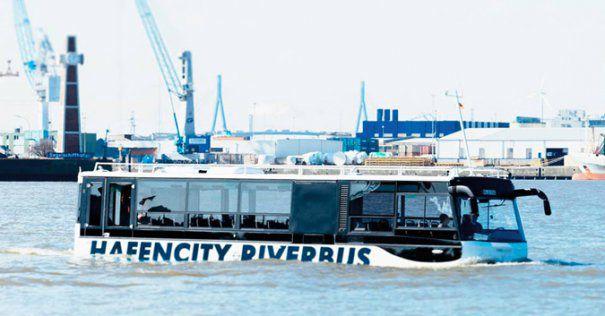 autobuz amfibie sau barcă, vehicul amfibiu